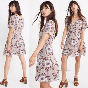 Madewell Painted Blooms Dress